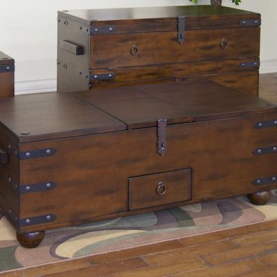 Sunny Designs Santa Fe Trunk Coffee Table in Dark Chocolate  $592