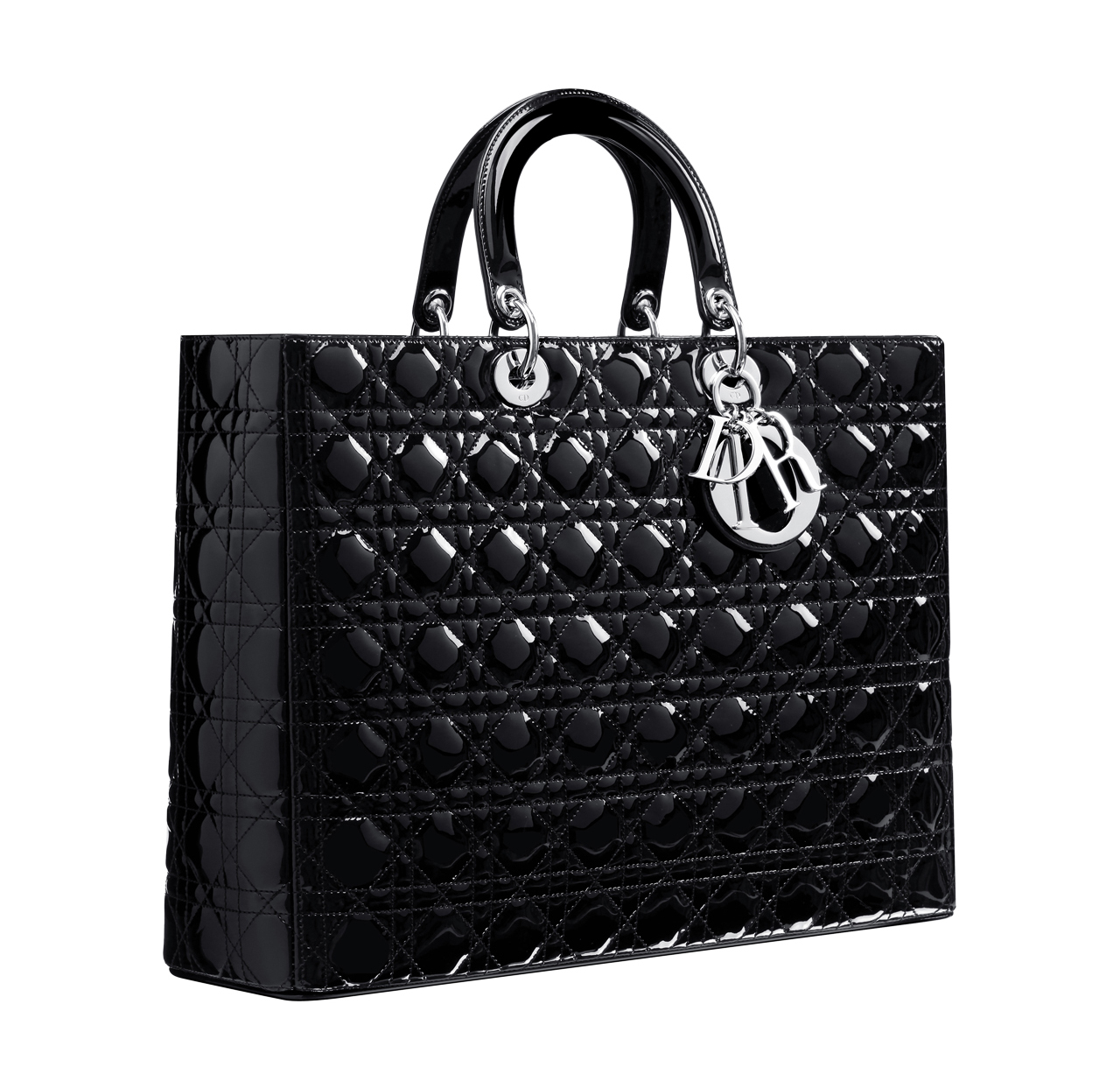 Dior Large Miss Ping Bag In Black Patent Leather