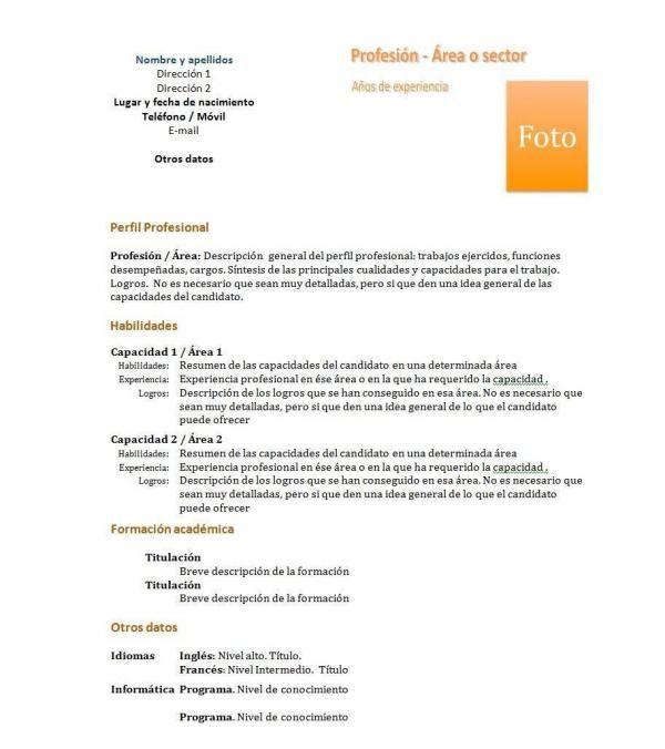 Como fazer um currículum vitae funcional Lugares para visitar - curriculum vitae