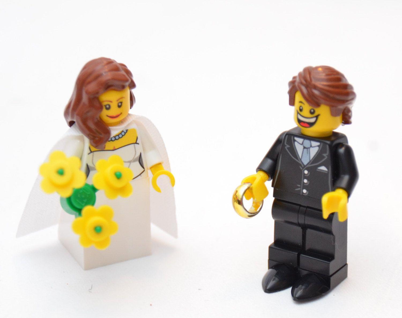 Custom Lego Minifigure Bridal Couple ~ Wedding Lego ~ Bride & Groom ...