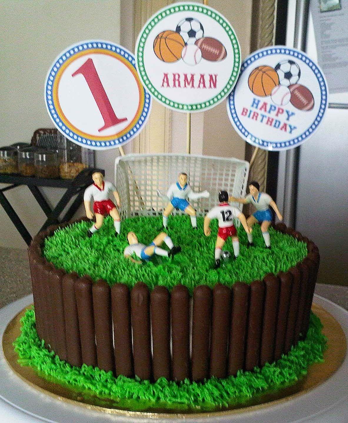 sweetartreats birthday cake soccer theme sweetartreats