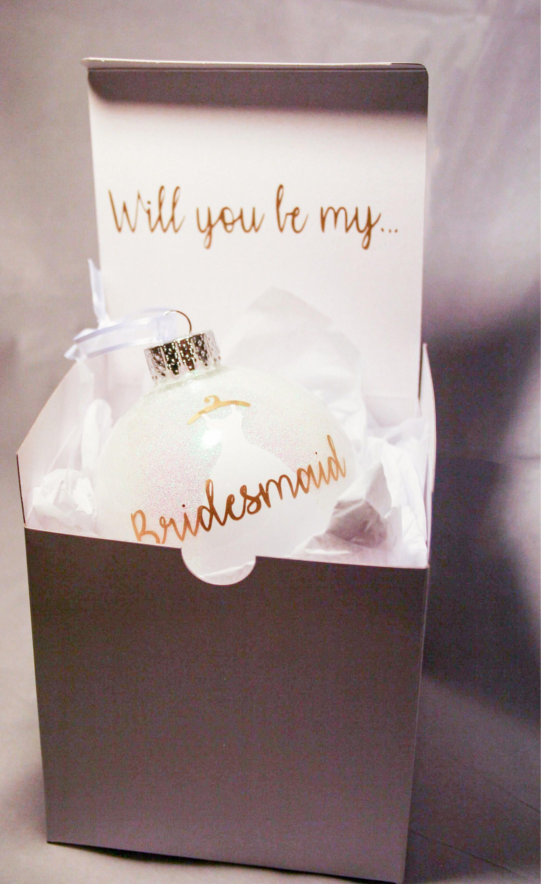 Bridesmaid gift christmas ornament gift from bride etsy