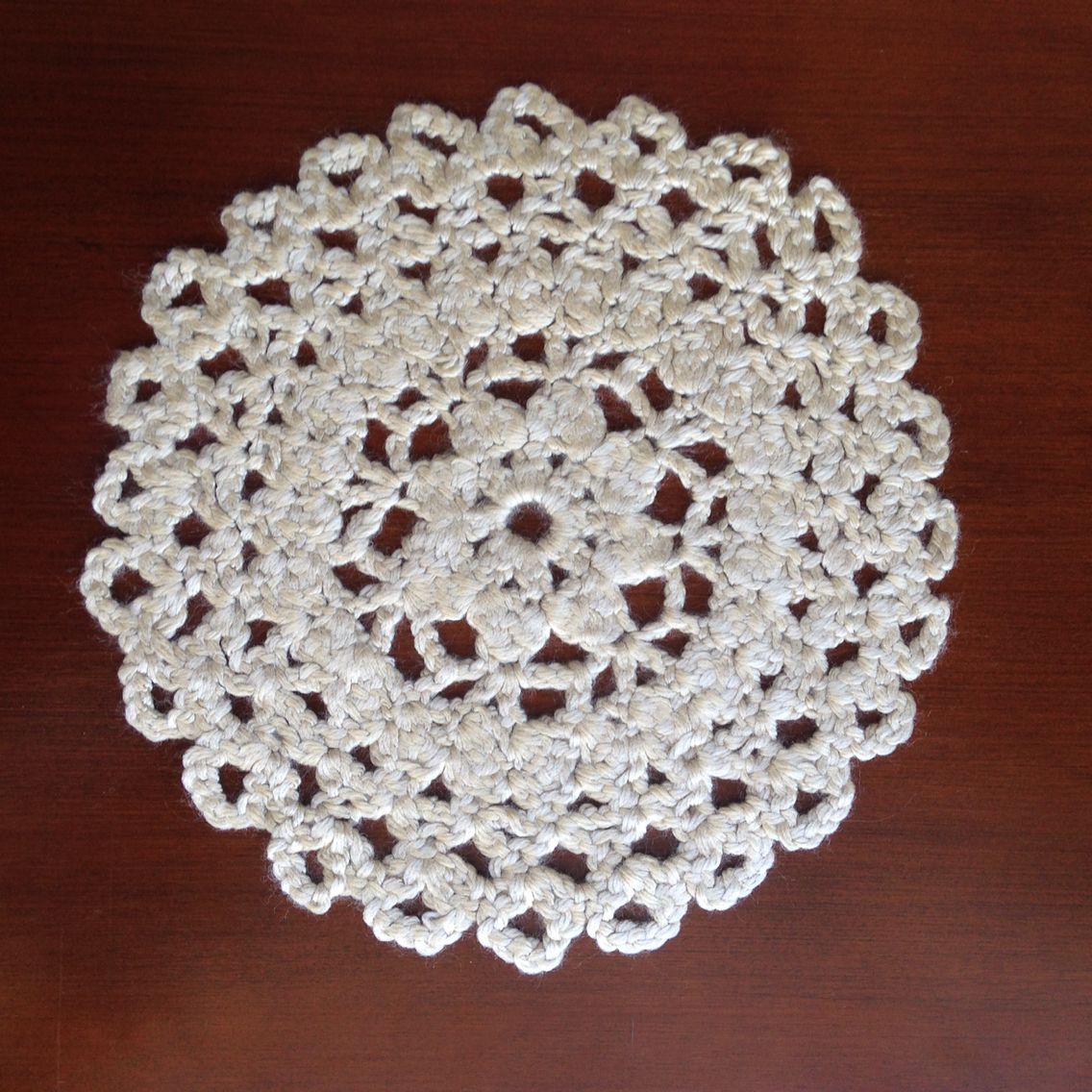 Thick wool doily