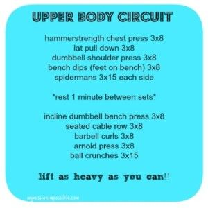Upper Body Circuit #fitfluential