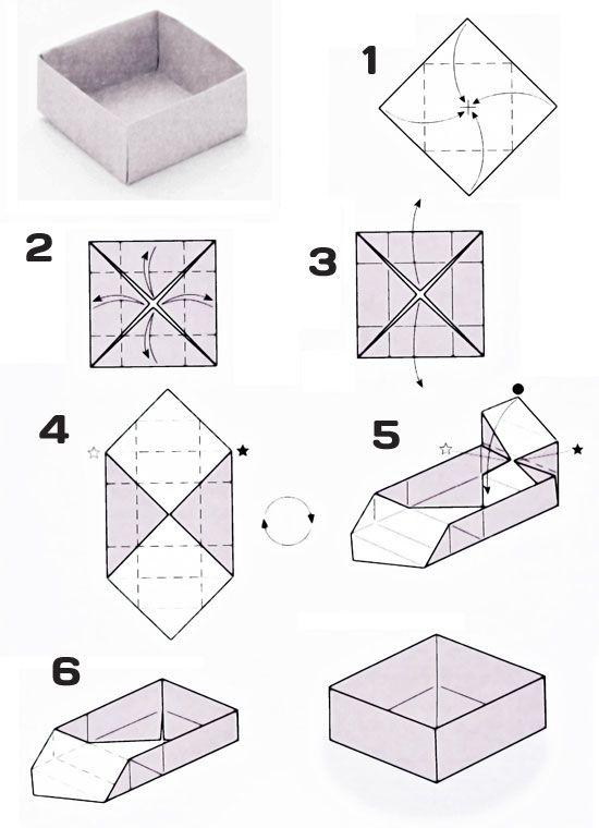Оригами из бумаги коробочка с