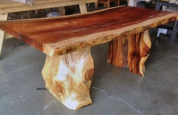 Natural Edge Dining Table With Tree Trunk Legs 40 X 8 0 Long X