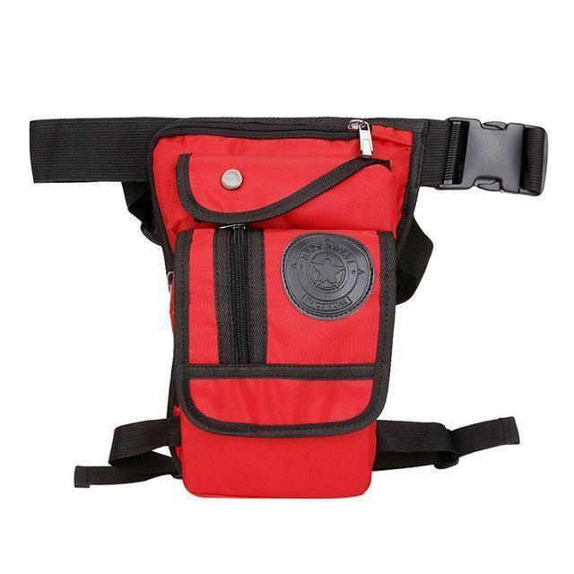 Men/'s Waterproof Nylon Fanny Waist Bag Outdoor Rider Drop Legs Pack Shoulder Bag