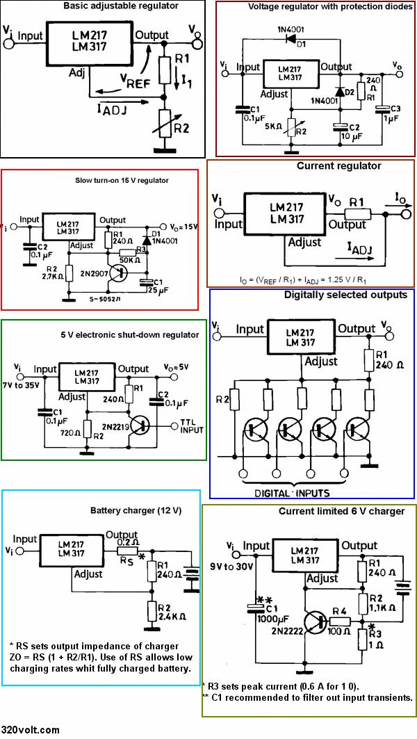Reading Circuit Diagrams | Lm317 Szukaj W Google Batteryreconditionerandbatterydesulfator
