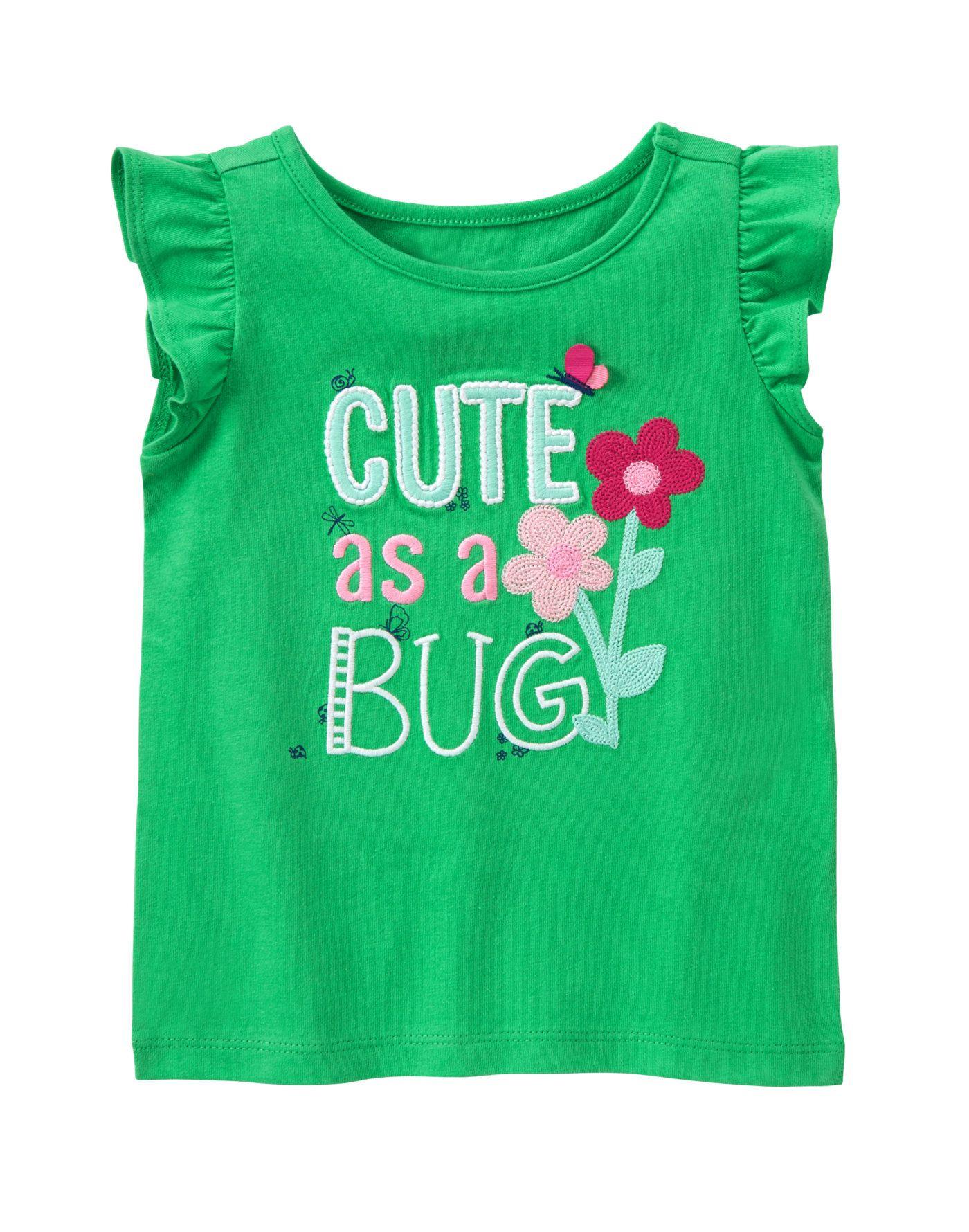 Gymboree Girls Baby Grasshopper Tee