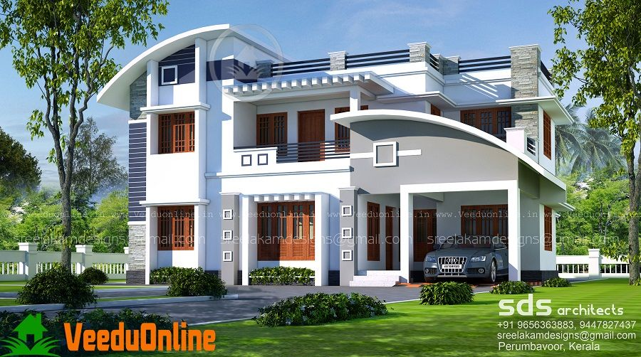 Bon 2500 Sq Ft 4 Bhk Double Floor Modern Home Design