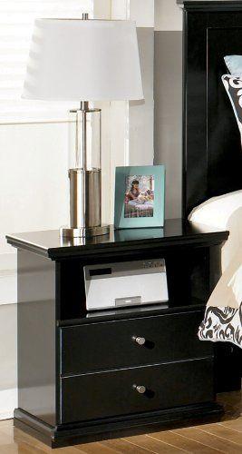 Maribel One Drawer Bedroom Nightstand Black Finish Bedroom Night Stands Ashley Furniture Bedroom Girls Bedroom Furniture