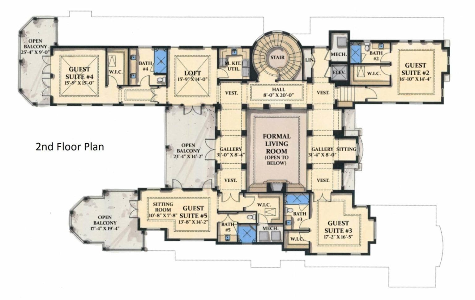 5 Bedroom Two Story Grand Royale Tuscan Style Home Floor Plan In 2020 Mediterranean Style House Plans Tuscan Style Homes House Floor Plans