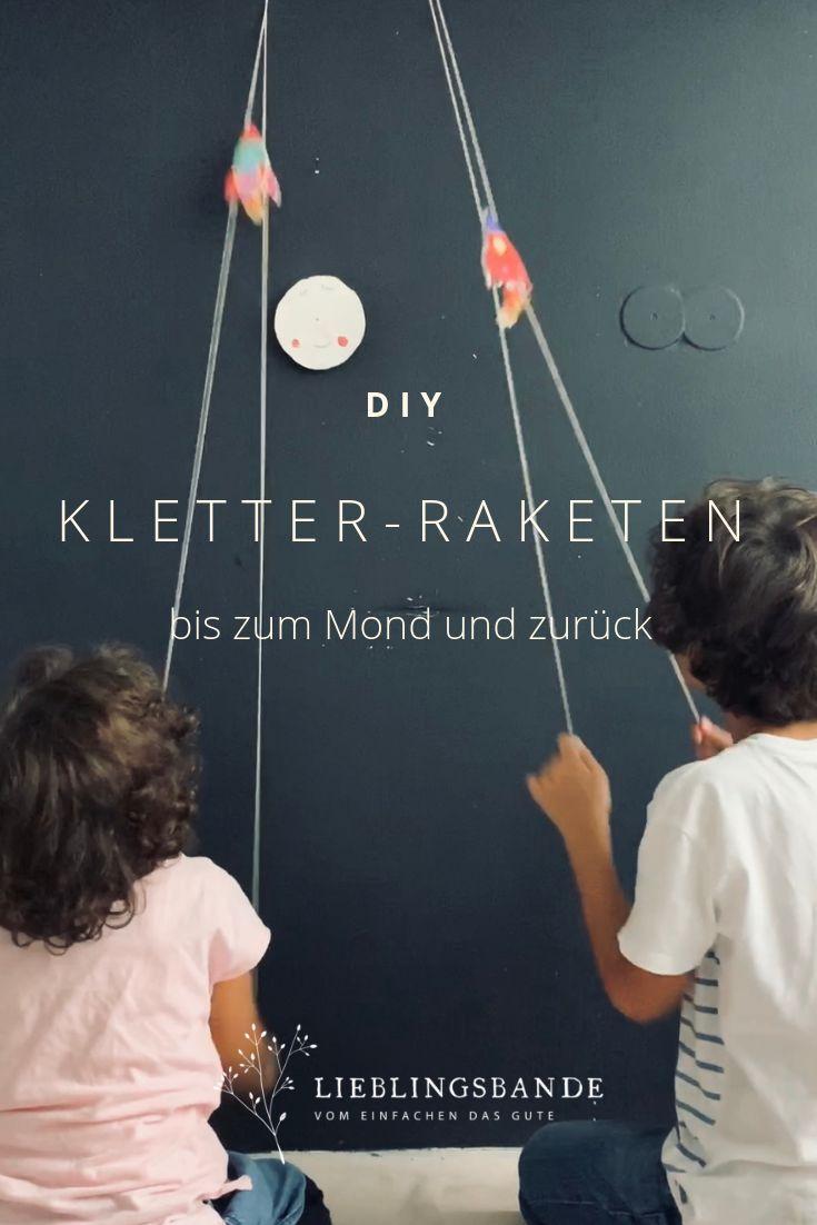 DIY Bastelidee  für Kinder für den Weltraumgeburtstag: Kletter Rakete basteln  #Spielidee #Kinderspiel #Spielen #Ideenfürkinder #Mitkindernfeiern