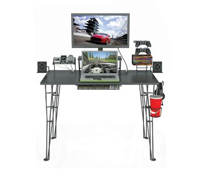 With several features to help enhance your gaming experience, the Gaming Desk is your outstanding solution. Total Capacity: 9 Discs. Materia