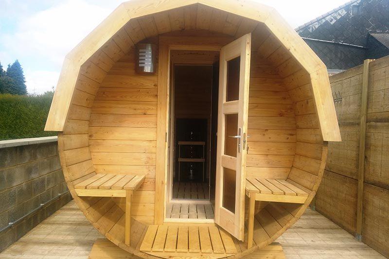Sauna Exterieur En Bois Baril Barril Tonneau Sauna Exterieur