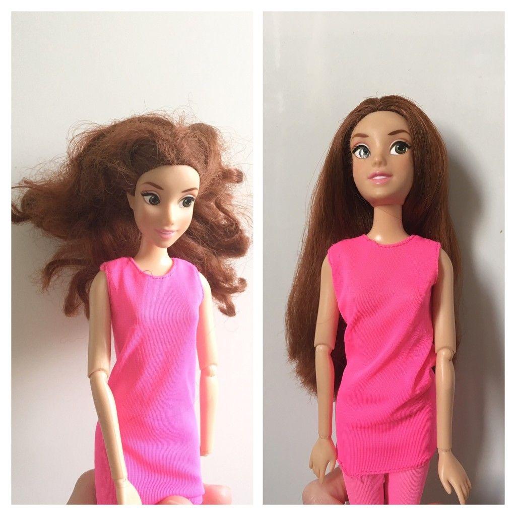 Tuto Demeler Et Reparer Les Cheveux Des Poupees Video Allo Maman Dodo Cheveux De Poupee Cheveux Barbie Cheveux Avant Apres