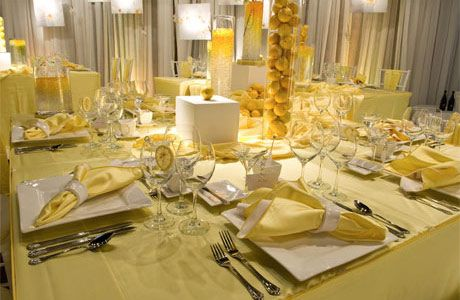 Yellow And Silver Wedding Table Decor How To Choose A Color For A