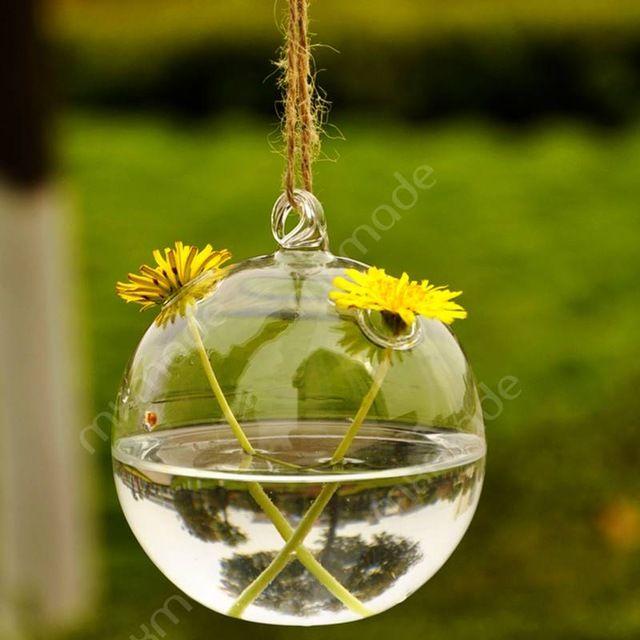 terrario jarrones y macetas colgantes de cristal del florero de