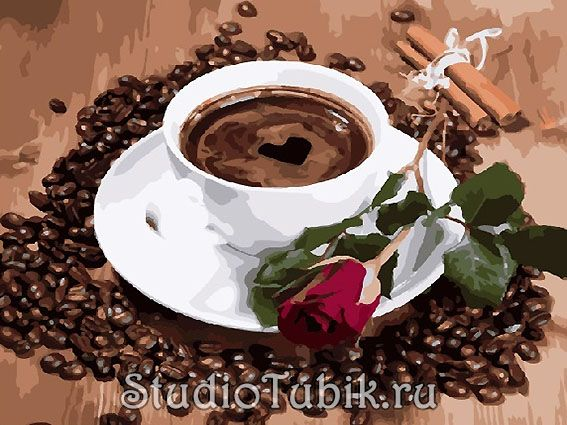 "Картина-раскраска по номерам ""Доброе утро"", арт.: RX8117 ..."