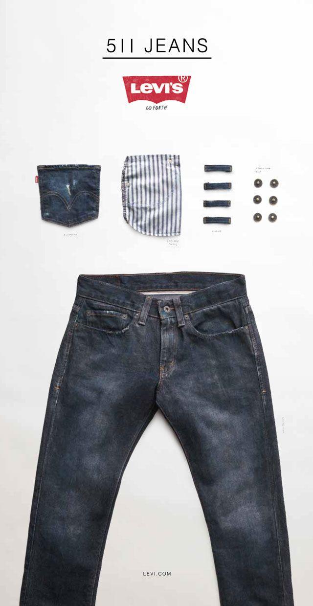Levi S Go Forth Workwear Campaign 511 Product Print Ad Pria
