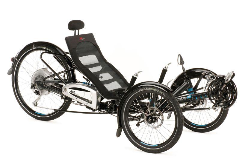 Ktm eshopper carrier bike with bosch motor recumbent for Recumbent bike with electric motor
