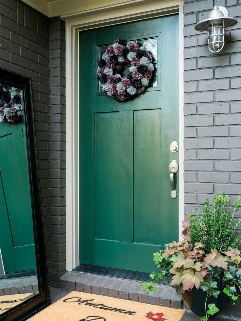 The Experts At Hgtv Com Share Easy Exterior Changes You Can Make To Your Home To Green Front Doors Front Door Colors Painted Front Doors