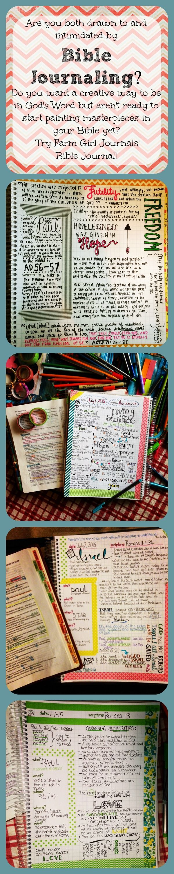 Love these Bible Journals!  They are so easy to use and you can go basic and just take notes or go all out and be as creative as you like.  Super versatile!