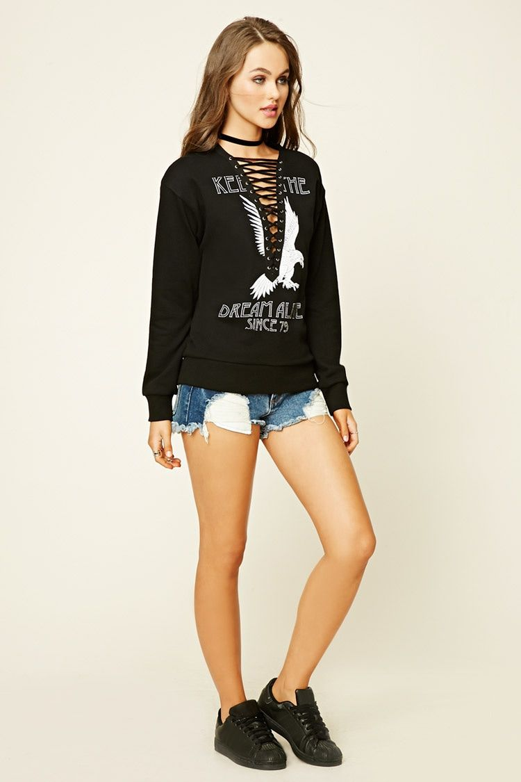 Keep The Dream Graphic Sweater | Forever 21 - 2000200141