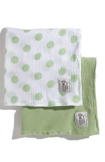 Little Giraffe Muslin Swaddling Blanket (2-Pack   Muslin ...