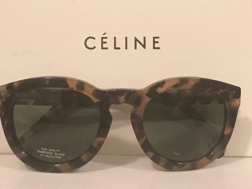 f6fd128b81a Celine Sunglasses CL 41801 S Havana Honey  Green Lens in 2019