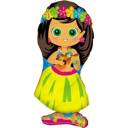 Hula Girl Shaped 34in Balloon Betallic Http Www Amazon Com Dp B000csk6mm Ref Cm Sw R Pi Dp Kuevtb1rww Mylar Balloons Hawaiian Luau Party Girls Hawaiian Party