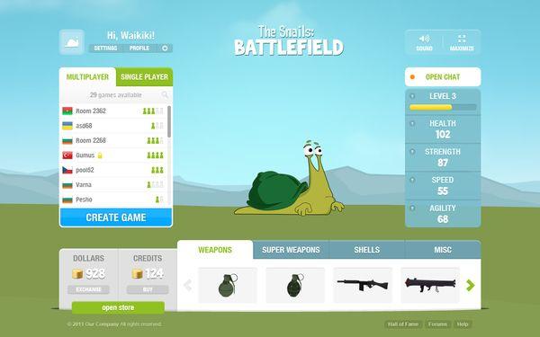 The Snails: Battlefield by George Jeliazkov, via Behance