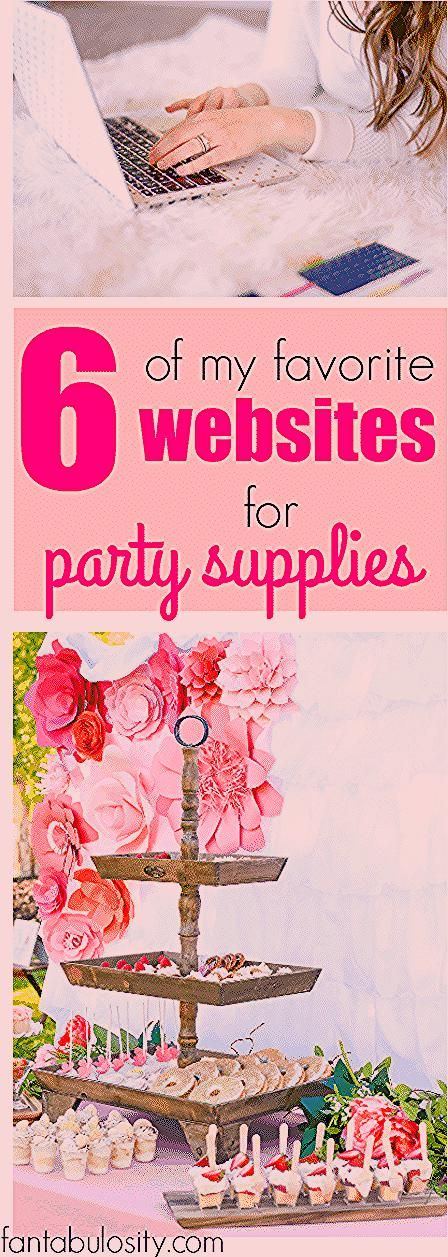 Photo of A List of my Favorite Websites for Party Supplies