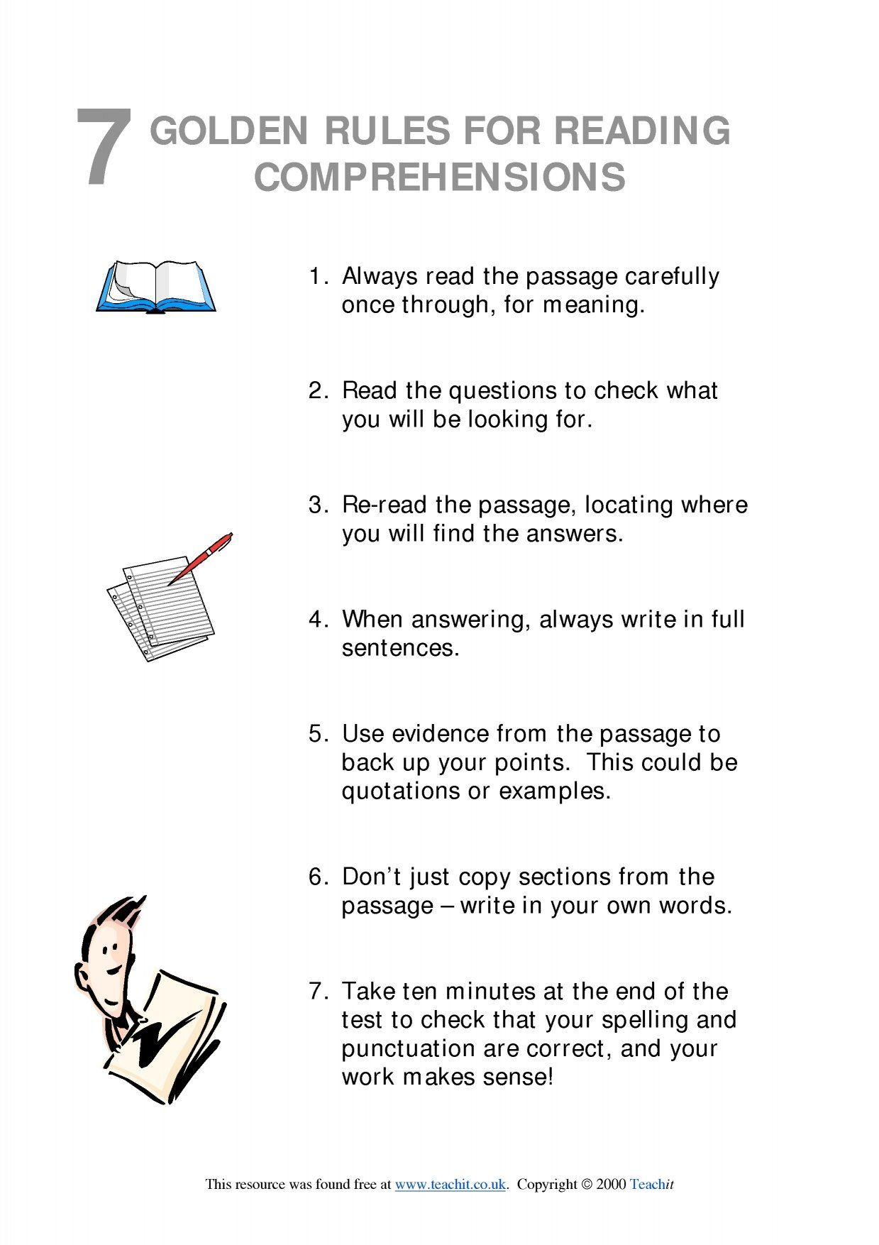 7 Golden Rules For Reading Comprehensions