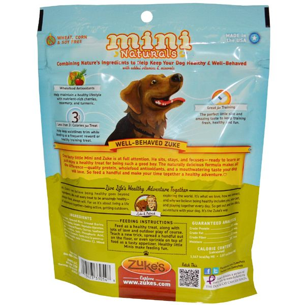 Made In The Usa By Zuke S Visit Us At Www Usapetspot Com Chicken Dog Treats Dog Treats Natural Dog Treats