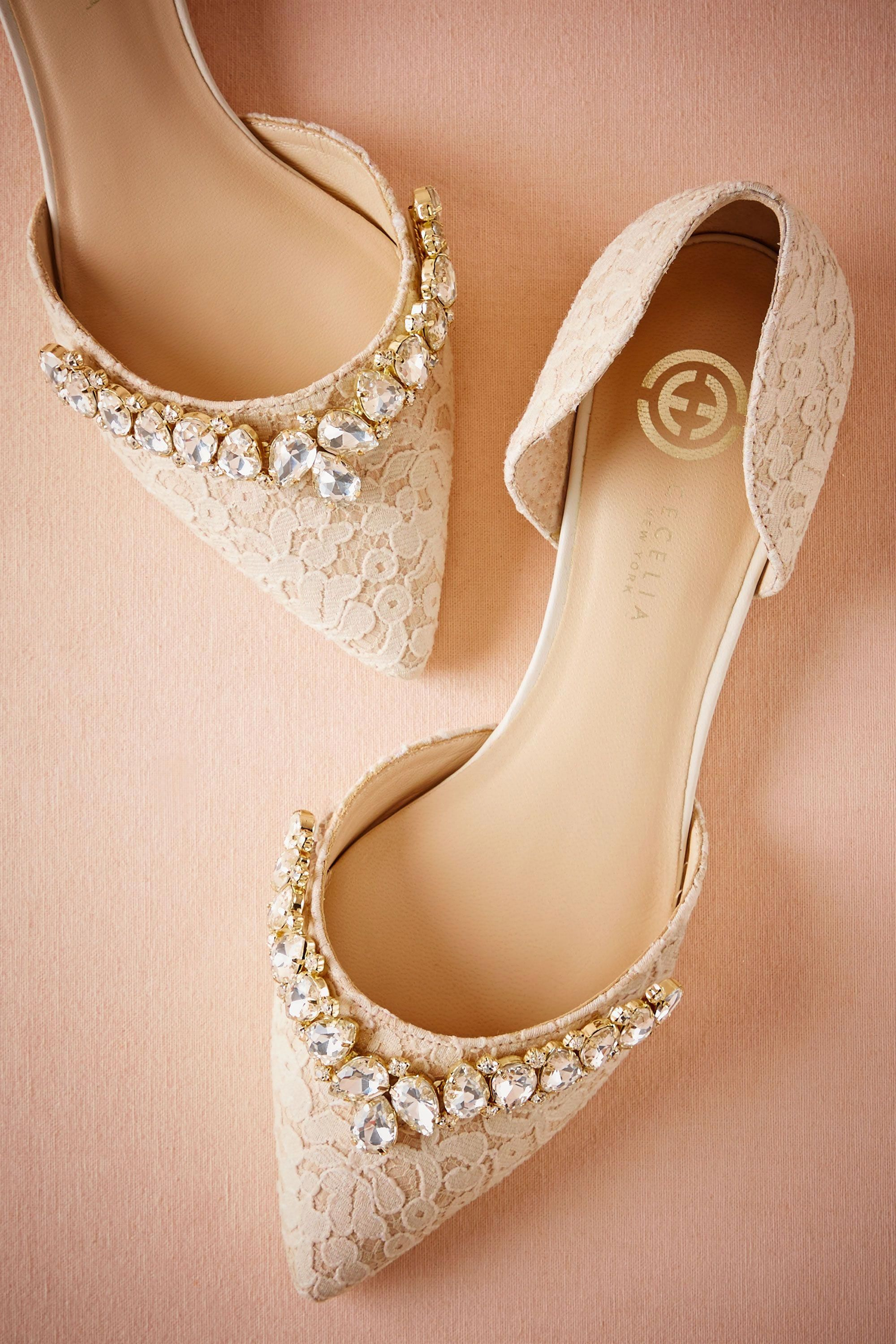 ec2592b61216 BHLDN Lotti Lace Flats in Shoes & Accessories Shoes at BHLDN #brideshoes