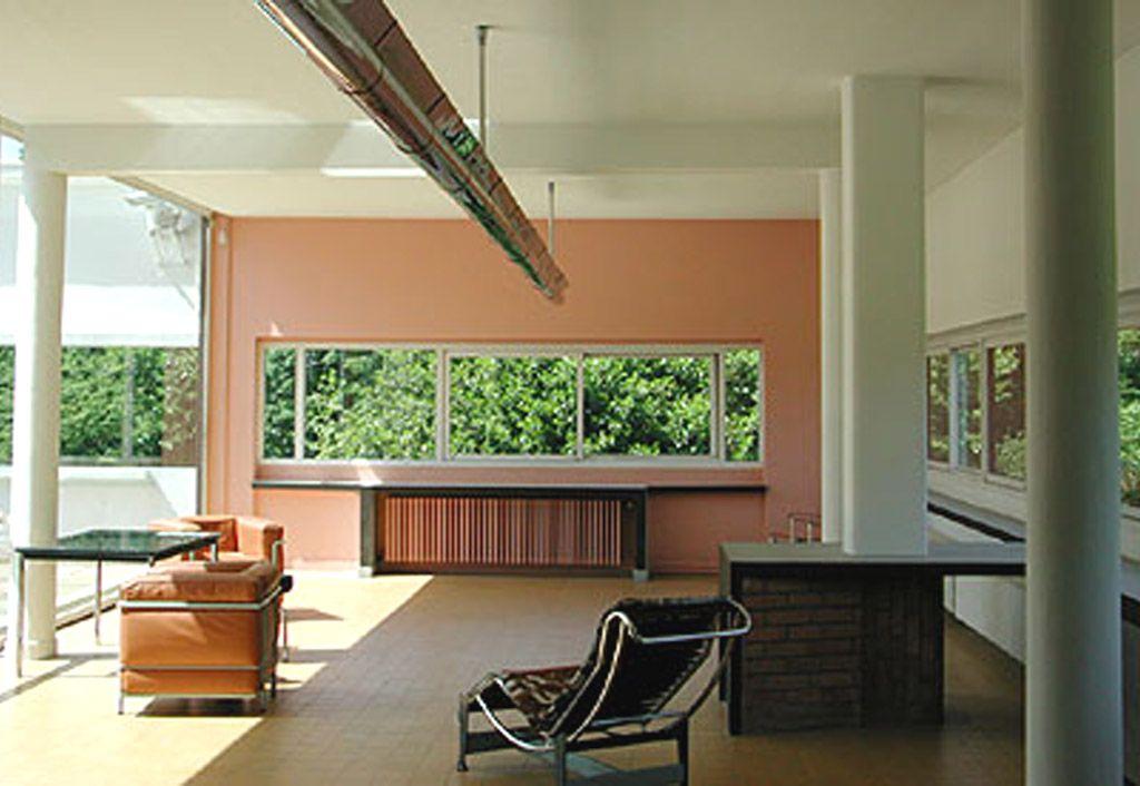 int rieur de la villa savoye le corbusier le corbusier villa y paint colors for home. Black Bedroom Furniture Sets. Home Design Ideas