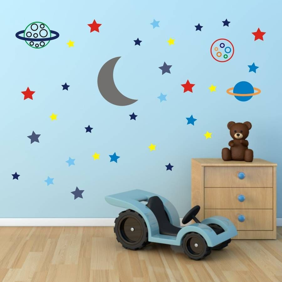 Stars And Planets Fabric Wall Sticker Wall Stickers Wall Decals