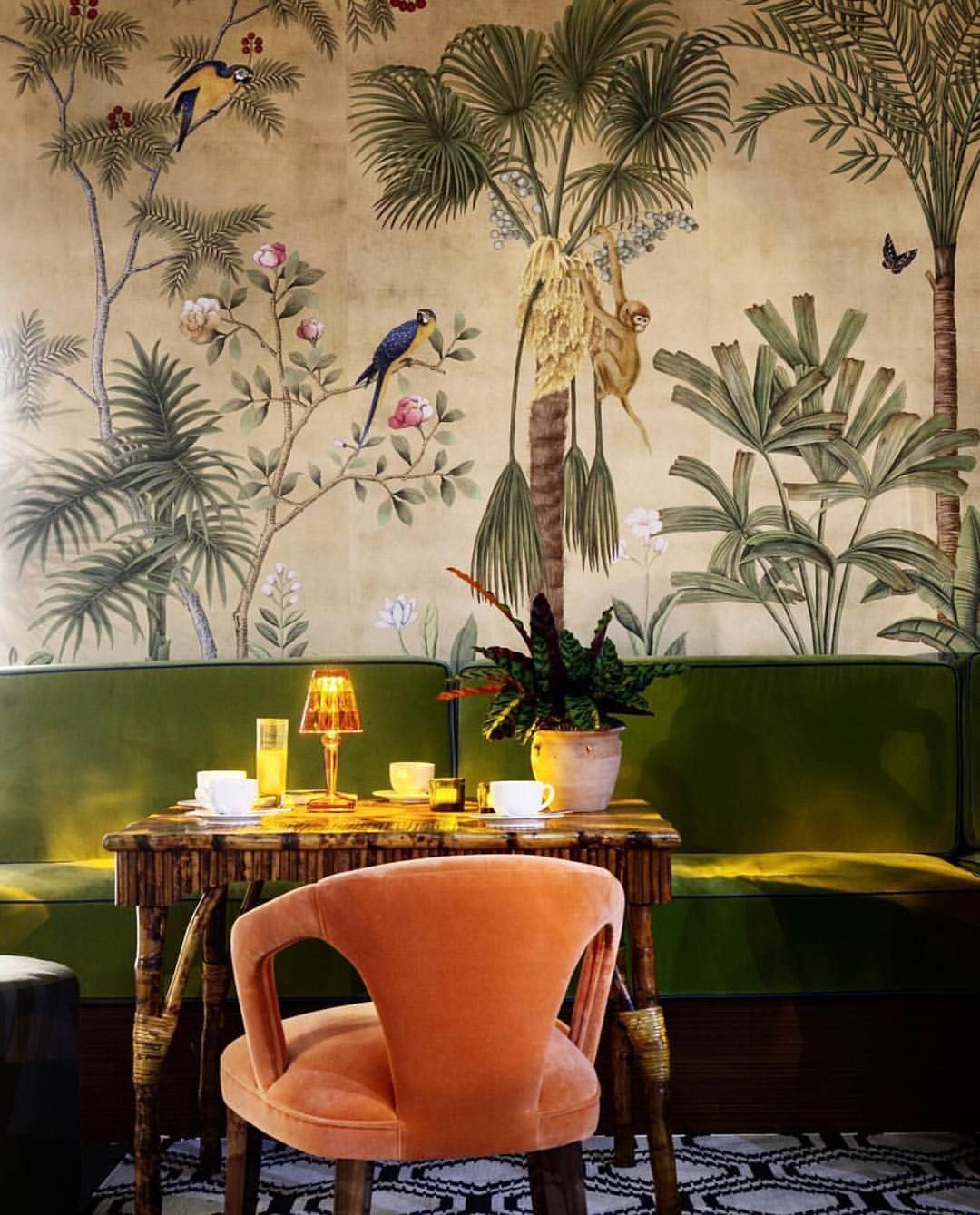 "3,005 gilla-markeringar, 36 kommentarer - STILTJE Inspiration (@stiltje.se) på Instagram: ""Let the jungle in. Beautiful wallpaper from @degournay ."""
