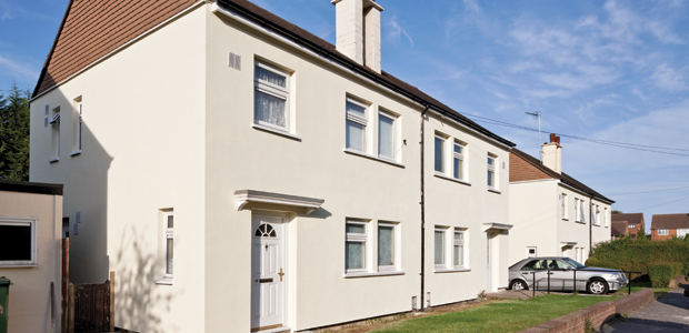 High U Value External Wall Insulation Sto Is A Render With Lots Of Finish Options Facade Cladding External Wall Insulation Wall Insulation