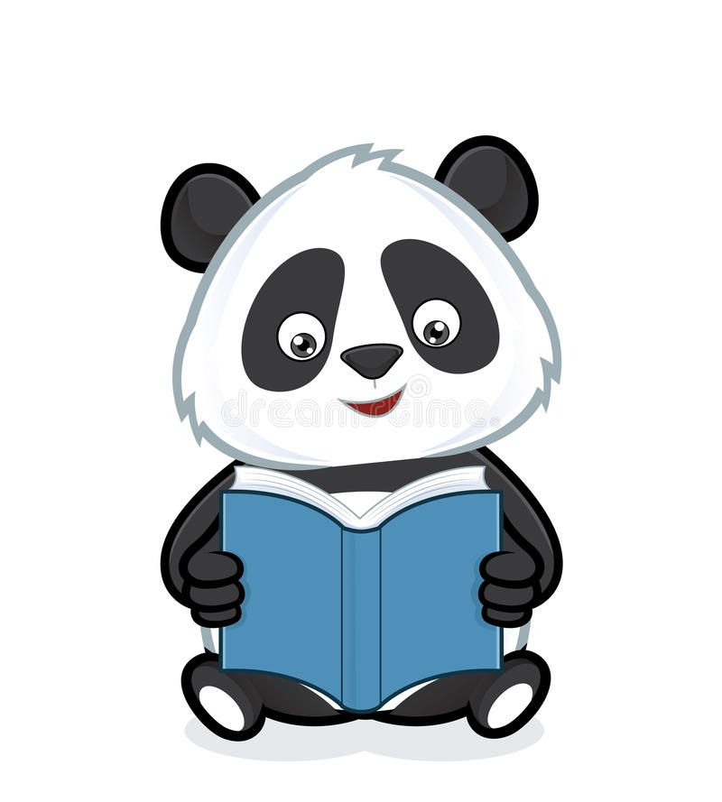 Panda Reading A Book Clipart Picture Of A Panda Cartoon Character Reading A Boo Spon Book Clipart Panda Reading Cartoo Panda Illustration Cartoon