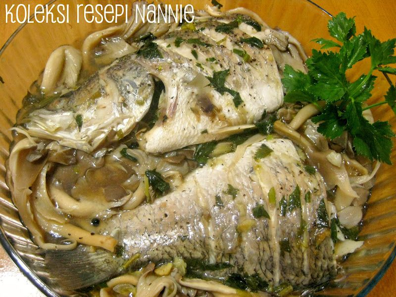 resepi ikan masak stim Resepi Ikan Siakap Stim Sos Tiram Enak dan Mudah