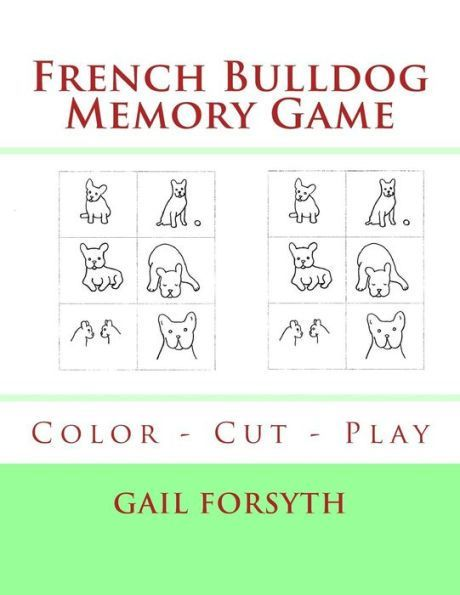 French Bulldog Memory Game: Color - Cut - Play