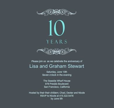 Aqua and gray regal anniversary party invitation david and shirley aqua and gray regal anniversary party invitation stopboris Gallery