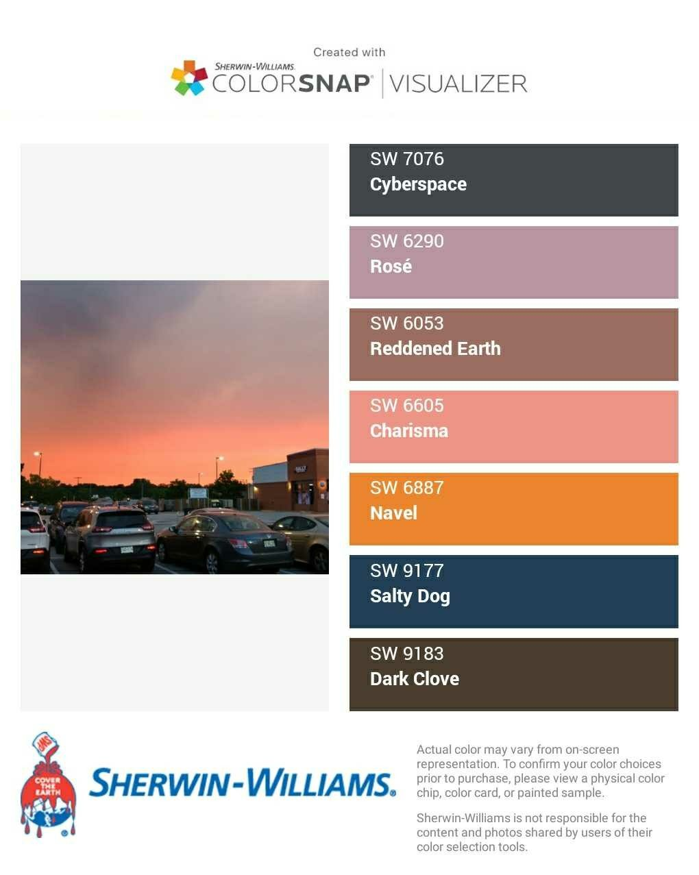 I Just Created This Color Palette With The Sherwin Williams Colorsnap Visualizer On My Android Phone What Do You Think