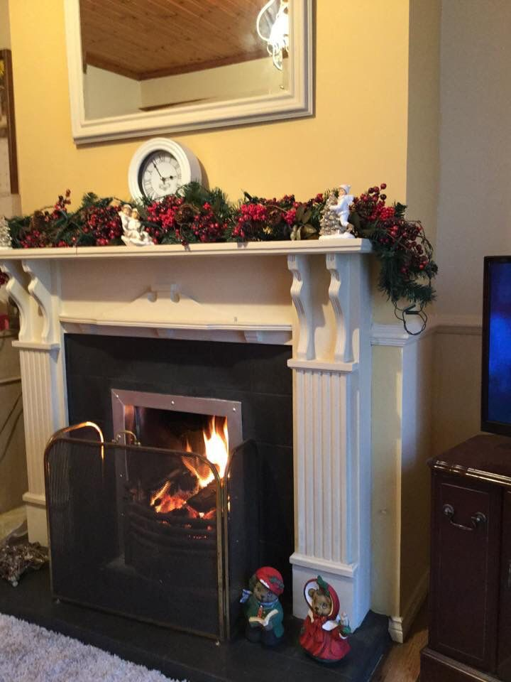 I painted my Mum & Dads Mahogany Fireplace with Annie Sloan Chalk ...