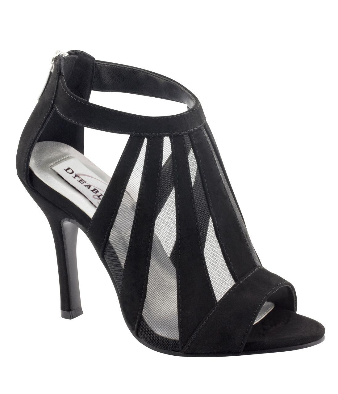 Black Caged Lotus Peep Toe Heels  #uniquevintage
