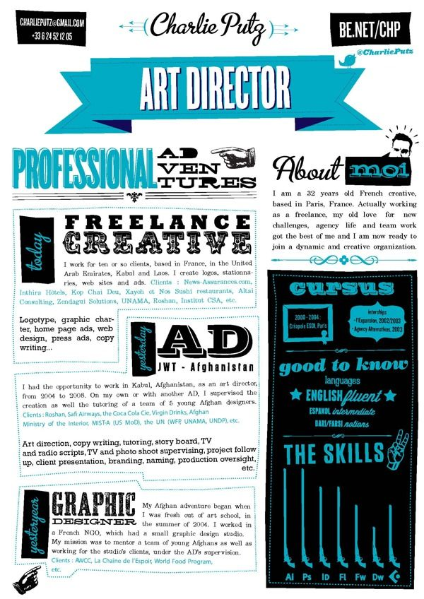 Resume ) Graphic Design Pinterest Creative cv, Infographic - naming a resume