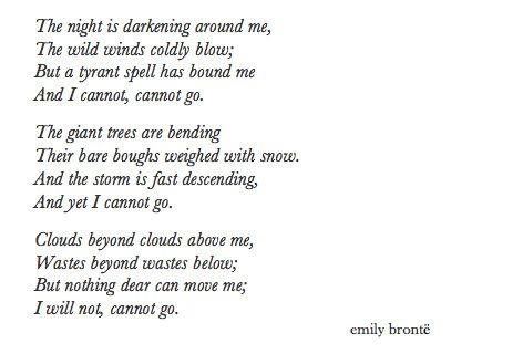 spellbound by emily bronte essay  · please help me analyze the poem spellbound by emily bronte please analyze it thoroughly so i can understand the meaning of the poem thank you :.