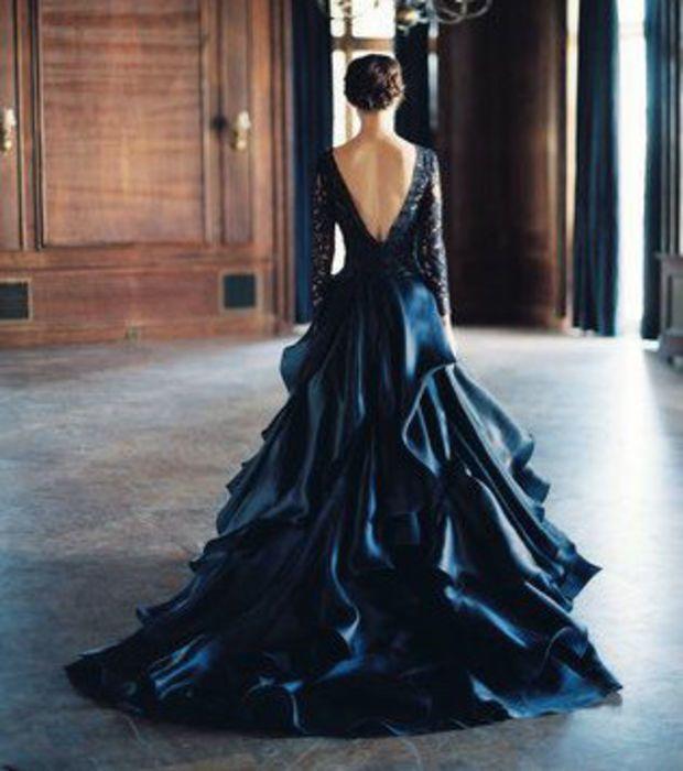 Vestido de novia negro | Fashion | Pinterest | Vestido de novia ...